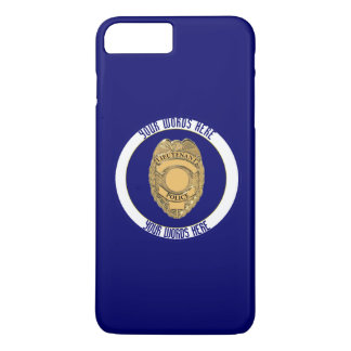 Police Lieutenant Badge Custom iPhone 7 Plus Case