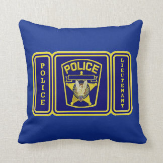 Police Lieutenant Throw Pillow