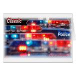 Police Light Bars Greeting Cards