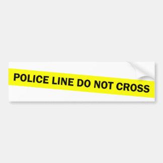 police line do not cross bumper sticker