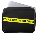 police line do not cross laptop computer sleeve