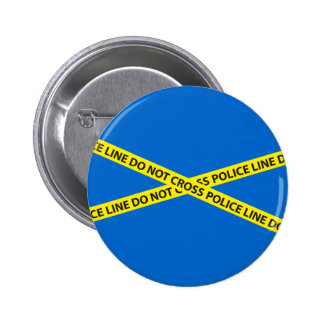 POLICE LINE DO NOT CROSS tape Button