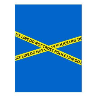 POLICE LINE DO NOT CROSS tape Postcard