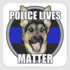 Police lives german shepherd square sticker