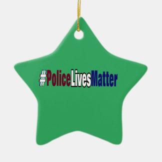 # Police lives matter Ceramic Ornament