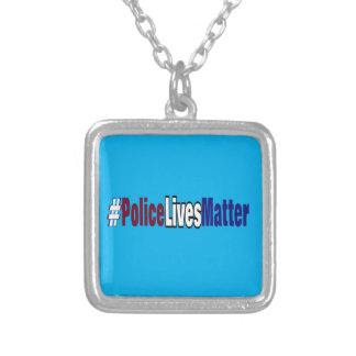 # Police lives matter Silver Plated Necklace