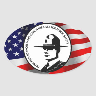 POLICE MEMORIAL OVAL STICKER