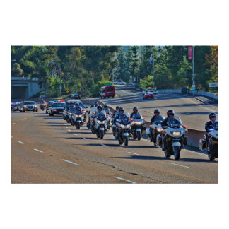 Police Motorcade Poster