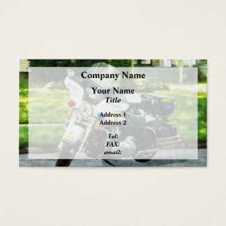Police Motorcycle Business Card