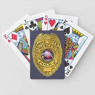 Police_Move_Over Bicycle Playing Cards