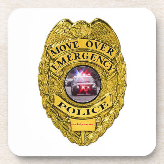 Police_Move_Over Drink Coaster