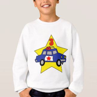 Police Officer 3rd Birthday Gifts Sweatshirt