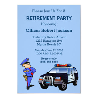 Police Officer and Police Ca Retirement Invitation