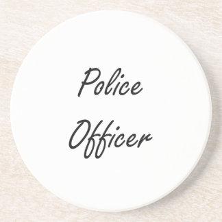 Police Officer Artistic Job Design Coaster