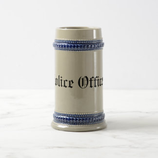Police Officer Beer Stein