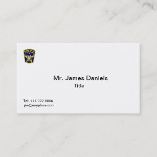 Retired police business cards profile cards zazzle ca police officer business card colourmoves