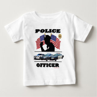 Police_Officer_Cars_Flags Tee Shirt