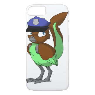 Police Officer Chocolate/Mint Reptilian Bird iPhone 7 Case