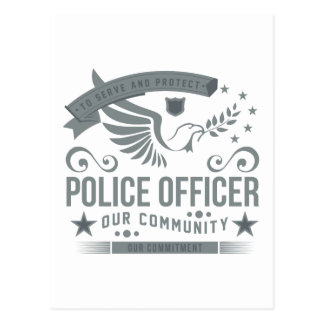 Police Officer Commitment Postcard