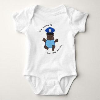 Police officer daddy baby bodysuit