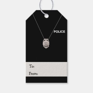 Police Officer Gift Tags