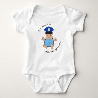 Police officer grandpa baby bodysuit