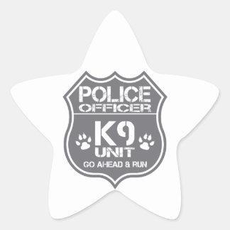 Police Officer K9 Unit Go Ahead Run Star Sticker