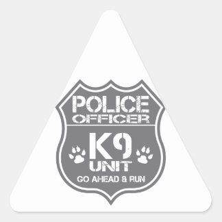 Police Officer K9 Unit Go Ahead Run Triangle Sticker