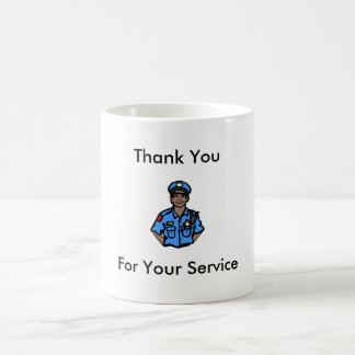 Police Officer Mug - Thank You For Your Service