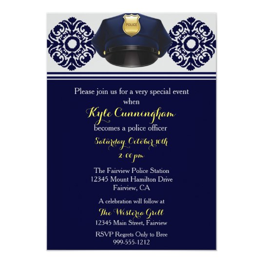 Police Officer Party Invitation