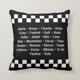 Police Officer Phonetic Alphabet Radio Call Throw Pillow