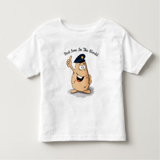 Police officer potato with a blue police hat toddler t-shirt