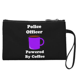 """Police Officer"" Powered by Coffee Wristlet Clutch"