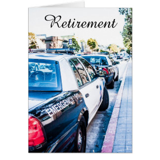 Police Officer Retirement card