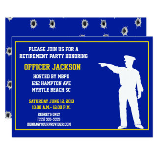 Police Officer Retirement Party Card