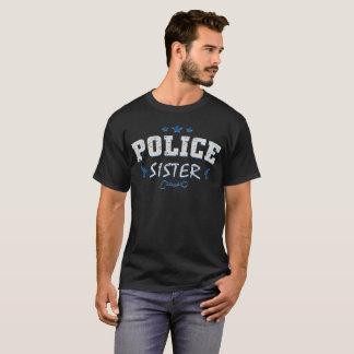 Police Officer Sister Vintage Retro Distresse T-Shirt