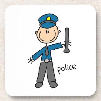 Police Officer Stick Figure Coaster