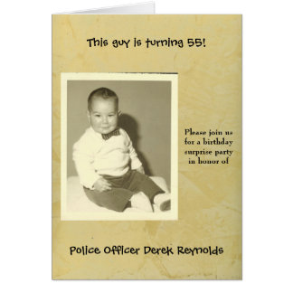 Police Officer Surprise Birthday Party Invitation