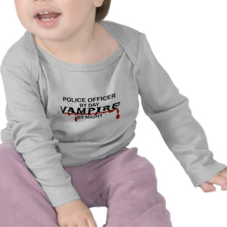 Police Officer Vampire by Night T-shirts