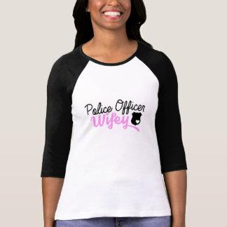 Police Officer Wifey Heart Badge Ragland Shirt