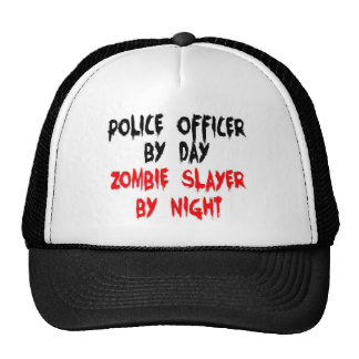 Police Officer Zombie Slayer Trucker Hat