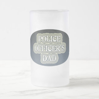 Police Officer's Dad Frosted Glass Beer Mug