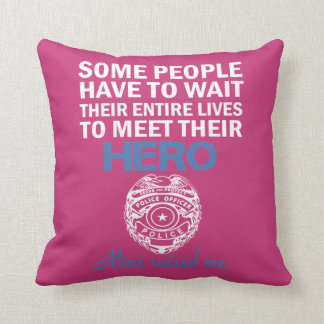POLICE OFFICER'S DAUGHTER THROW PILLOW