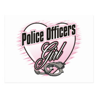 Police Officers Girl Postcard