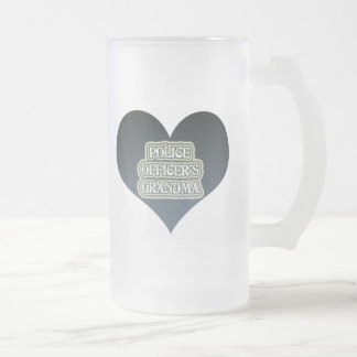 Police Officer's Grandma Frosted Glass Beer Mug
