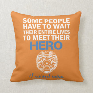 Police Officer's Mom Throw Pillow