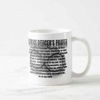 POLICE OFFICER'S PRAYER COFFEE MUG