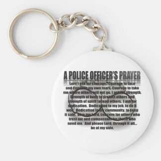 POLICE OFFICERS PRAYER KEYCHAIN