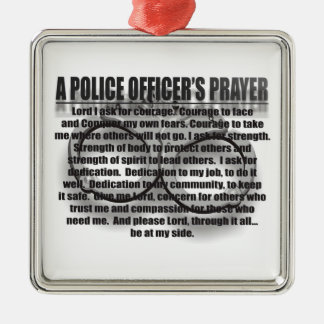 POLICE OFFICERS PRAYER ORNAMENT