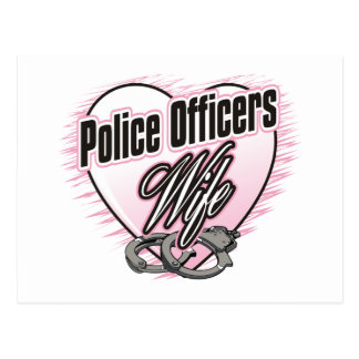 Police Officers Wife Postcard